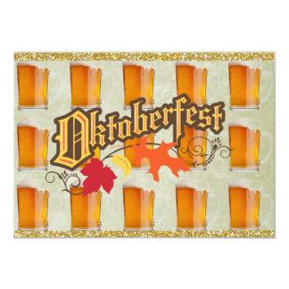 Oktoberfest Beer Mugs 13 Cm X 18 Cm Invitation Card