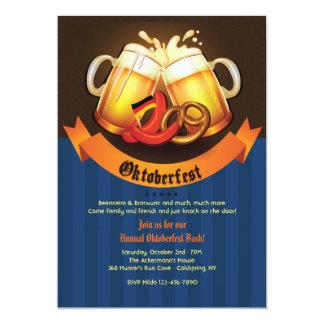 Oktoberfest Beer Mugs Invitation