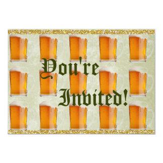 Oktoberfest Beer Mugs Prost 13 Cm X 18 Cm Invitation Card