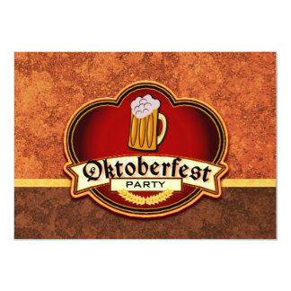 "Oktoberfest Beer Party 5"" X 7"" Invitation Card"