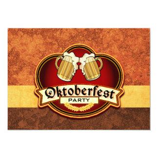 Oktoberfest Beer Party Double Mug Toast Custom 13 Cm X 18 Cm Invitation Card