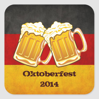 Oktoberfest Beer Party - Germany Drinking Team Square Sticker