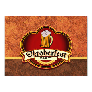 Oktoberfest Beer Party 13 Cm X 18 Cm Invitation Card