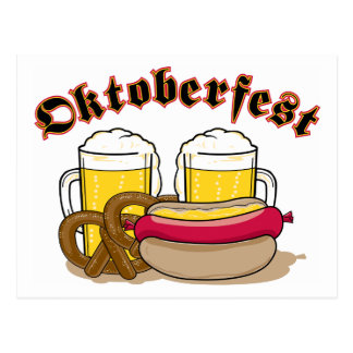 Oktoberfest Beer Postcard