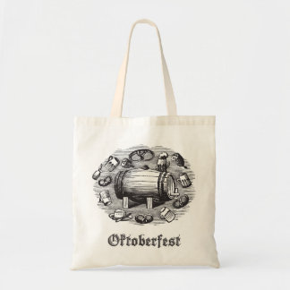 Oktoberfest Beer & Pretzel Tote Budget Tote Bag