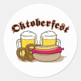 Oktoberfest Beer Round Sticker
