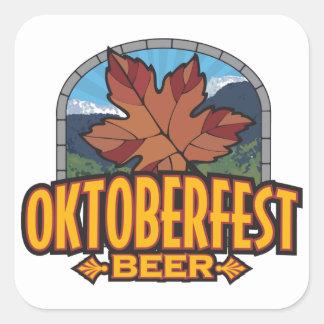 Oktoberfest Beer Square Stickers
