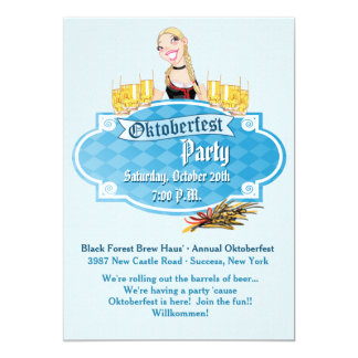 Oktoberfest Beer with a Smile Invitation