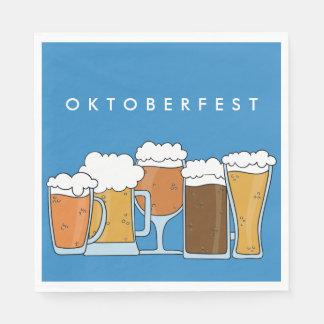 Oktoberfest Beerfest. Beer Collection. Paper Napkins