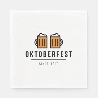 Oktoberfest Beerfest Festival Since 1910 Disposable Napkin