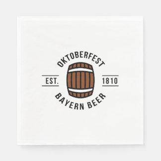 Oktoberfest Beerfest Festival Since 1910 Disposable Serviette