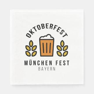 Oktoberfest Beerfest Munchen Fest Bayern Paper Napkins