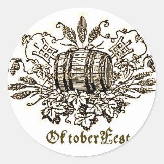 OktoberFest Bier Keg Print Sticker