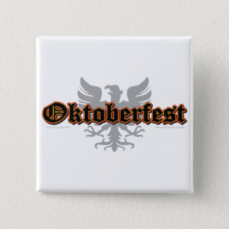 Oktoberfest Bird 15 Cm Square Badge