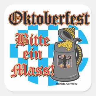 Oktoberfest Bitte ein Mass Stickers