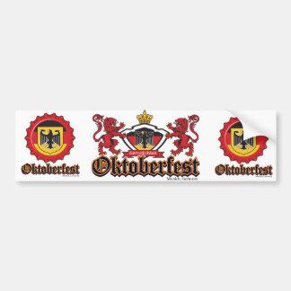 Oktoberfest Bottle Cap Bumper Sticker