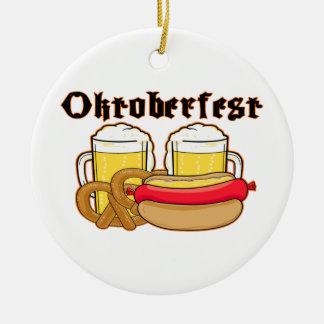 Oktoberfest Bratwurst & Beer Christmas Ornament