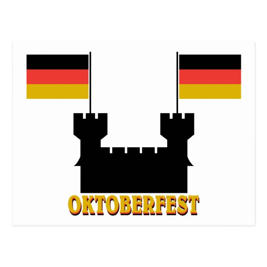 Oktoberfest Castle Postcard
