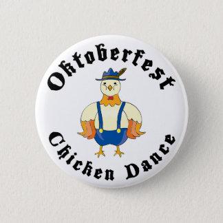 Oktoberfest Chicken Dance 6 Cm Round Badge