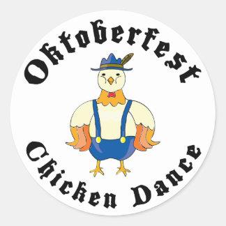 Oktoberfest Chicken Dance Round Sticker