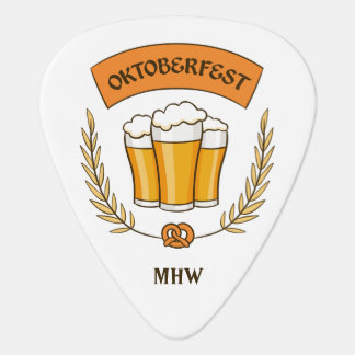 Oktoberfest custom monogram guitar picks