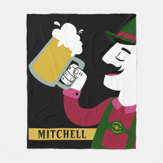 Oktoberfest custom name fleece blanket