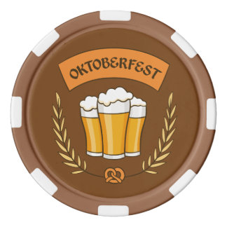 Oktoberfest custom text poker chips