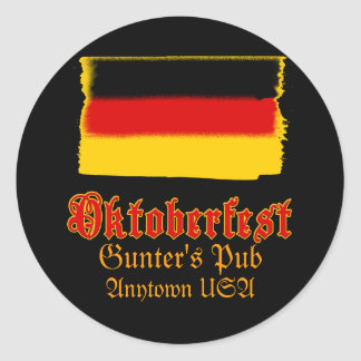 Oktoberfest Customizable Tees and More Round Sticker