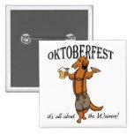 Oktoberfest Dachshund 15 Cm Square Badge