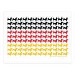 Oktoberfest/Dachshund Flag Postcard