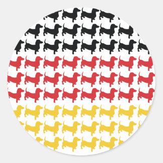 Oktoberfest Dachshund Flag Round Sticker