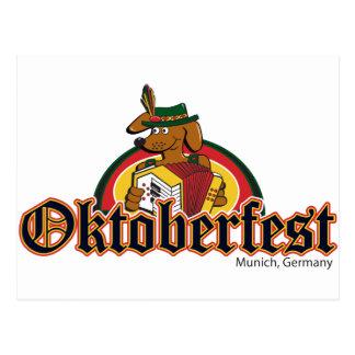 Oktoberfest Dachshund Postcard
