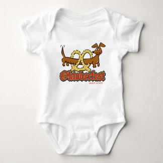Oktoberfest Dachshund Pretzel Baby Bodysuit