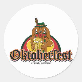 Oktoberfest Dachshund Round Sticker