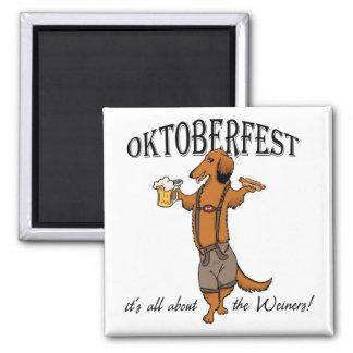 Oktoberfest Dachshund Square Magnet