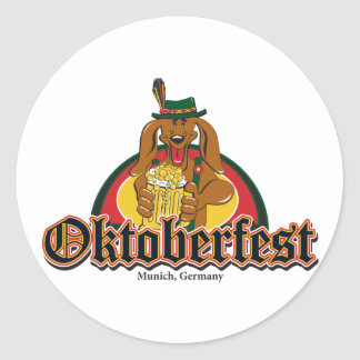 Oktoberfest Dachshund Sticker