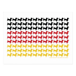 Oktoberfest Dachshunds Flag Postcard