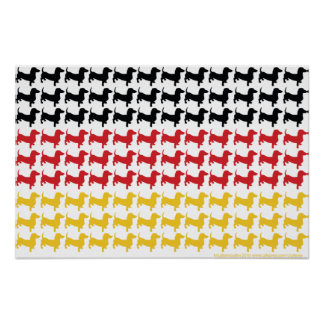 Oktoberfest Dachshunds Flag Poster