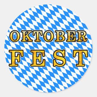 Oktoberfest dark outline round sticker