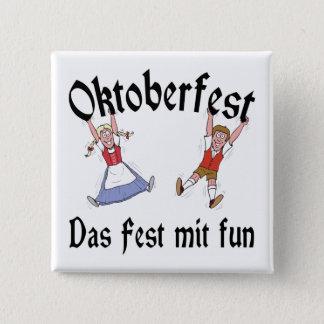 Oktoberfest Das Fest Mit Fun 15 Cm Square Badge
