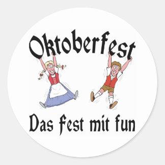 Oktoberfest Das Fest Mit Fun Round Sticker