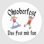 Oktoberfest Das Fest Mit Fun Round Stickers