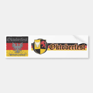 Oktoberfest Distressed Flag Bumper Sticker