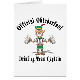 Oktoberfest Drinking Team Captain Gift Card