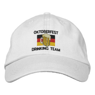 Oktoberfest Drinking Team Embroidered Cap Embroidered Baseball Cap