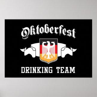 Oktoberfest drinking team poster