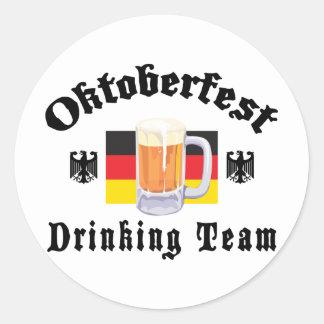 Oktoberfest Drinking Team Round Sticker