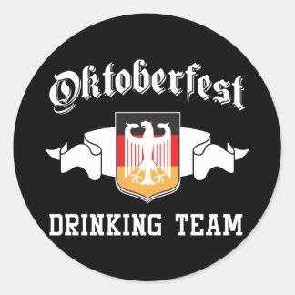 Oktoberfest drinking team round stickers