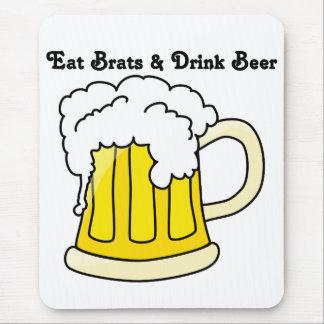 Oktoberfest Eat Brats & Drink Beer 1 Mouse Pad
