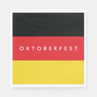 Oktoberfest. Flag of Germany. Paper Napkin